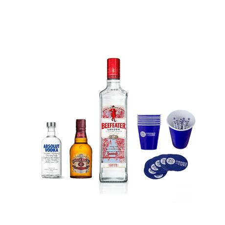 KIT-Kit-Beefeater-750ml---Chivas-Regal-12-anos-375ml---Vodka-Absolut-375ml
