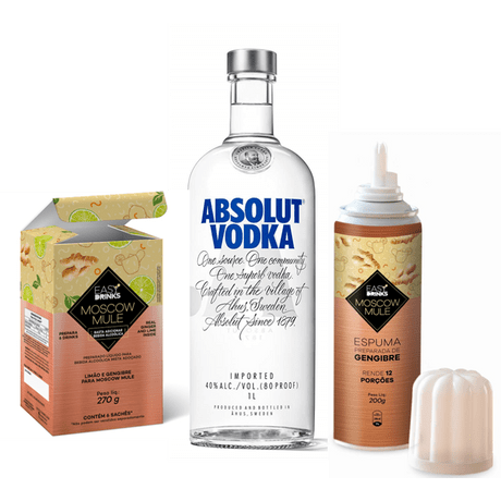 Vodka-Absolut-Regular--1L---Espuma-de-Gengibre-Easy-Drinks-200g---Preparo-para-Moscow-Mule-Easy-Drinks