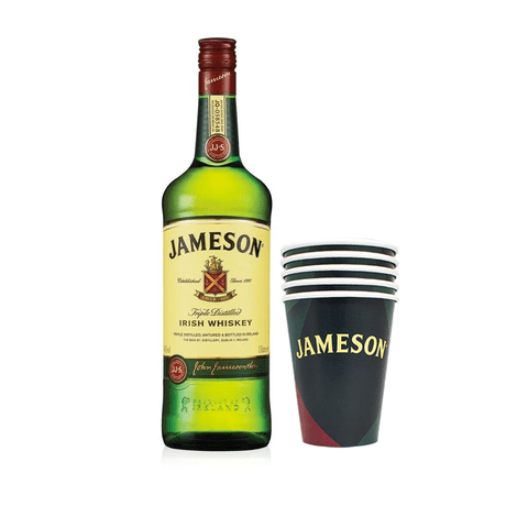 Kit-Whiskey-Jameson-1L---5-Copo-Personalizado-Jameson-380ml