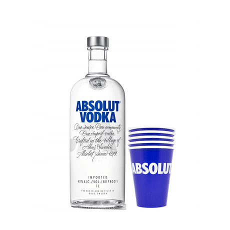 Kit-Vodka-Absolut-1L---5-Copo-Personalizado-Azul-Absolut-380ml