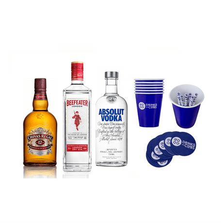 Kit-Vodka-Absolut-750ml---Chivas-Regal-750ml---Beefeater-750ml